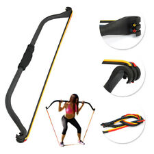 4 Resistance Bands Workout Exercise Gym Set Equipment Training Bow Home