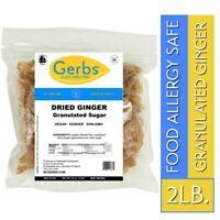 Dried Ginger, 2 LBS Food Allergy Safe, NON GMO, & Unsulfured by Gerbs