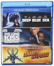 DEEP BLUE SEA The LONG KISS GOODNIGHT SNAKES ON A PLANE BLU RAY SAMUEL L JACKSON