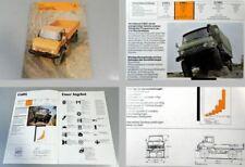 Unimog U600L U800L U1100L Fahrgestelle Gewerbe Industrie Prospekt 1977