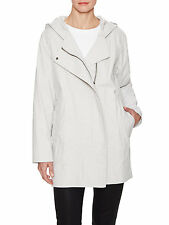 HELMUT LANG Abrade Coating Trench Coat Jacket in Dust Gray Size P XS