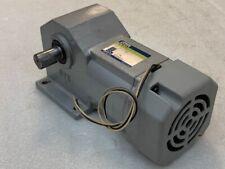 Nissei Geared Motor GTR HLMN-18L-15-T90 3 Ph AC200V Gear Ratio 1:15 Used