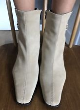Pierre Cardin Vintage Leather Ankle Boots Taupe Size 37 (4)