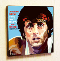 Rocky Balboa Sylvester Stallone Painting Decor Print Wall Poster Canvas Decals
