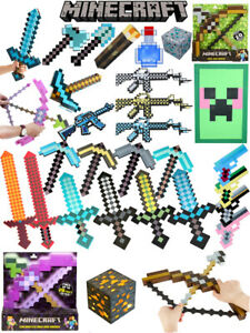 Minecraft Toys Large Diamond Sword Pickaxe EVA Weapons Game Kids Gift For Real
