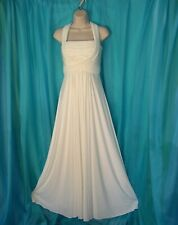 NORDSTROM Boutique WHITE Formal Gathered Fabric Long EXQUISITE Party DRESS 4