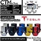 20 TESLA MODEL 3 MODEL X MODEL S MODEL Y OEM FACTORY LUG NUT M14x1.5 STOCK WHEEL
