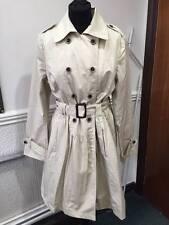 Knee Length Button Cotton Business Coats & Jackets for Women