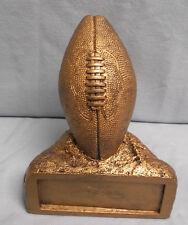 """Football trophy resin award """"rock"""" ball gold Jds28"""