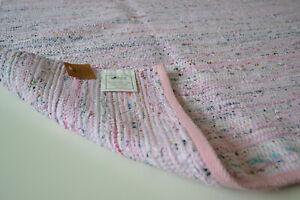 Pink Chindi Rag Rug Handmade Recycled Cotton 240cm x 150cm Hemmed 8ft 5ft