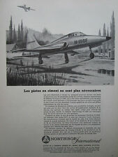 1/1958 PUB NORTHROP INTERNATIONAL N-156F USAF FIGHTER MACH 2 ORIGINAL FRENCH AD