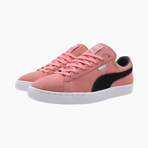 Puma Suede Mens Rose Pink Black Trainers UK 9.5 Sneakers 363242 46 Clyde New