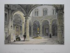 ITALY - COURT OF THE OLD PALACE, FLORENCE, 1840.