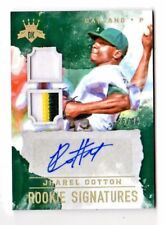 JHAREL COTTON MLB 2017 DIAMOND KINGS DK ROOKIE SIGNATURE MATER GOLD (ATHLETICS)
