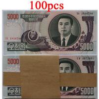 A bundle 100pcs Asian 5000 yuan Banknotes new Collections Uncirculateds