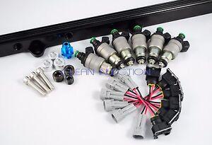 Toyota Supra 7mge 7mgte Siemens Deka 800cc Fuel Injector fuel Rail Kit turbo MK3