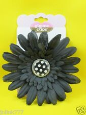 K64:NEW Gimme Clips T Big Blossoms Hair Clip-Black