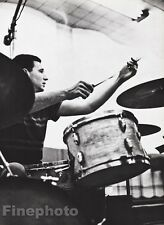 1955/87 Vintage 16x20 SHELLY MANNE Jazz Music Drummer Photo Art WILLIAM CLAXTON