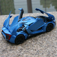 Lykan Hypersport Sound & Light Model Cars 1:32 Blue Toys Gifts Alloy Diecast New