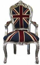 Poltrona Barocco Barocca Stile Luigi Argento Bandiera Inglese Union Jack UK
