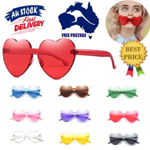 Women Love Heart Sunglasses Beach Casual Fashion Retro Glasses Eyeglasses