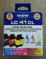 Brother LC413PKS 3-Piece Ink Cartridge Set Cyan Magenta Yellow - New Sealed!