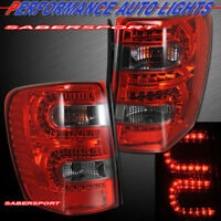 Set of Pair Red Smoke LED Taillights for 1999-2004 Jeep Grand Cherokee