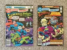 Superman and Manhunter from Mars #27 Nov'80 & Superman and Supergirl #28 Dec'80