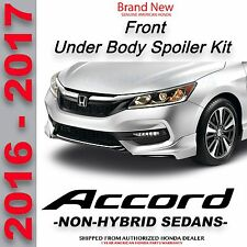 Genuine American Honda Accord 4 Dr Front Under Body Kit 16-17 08F01-T2F-XXX