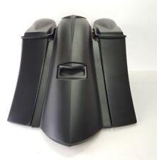 """gansta stretched saddelbags, rear fender & 6.5"""" lids for harley 2009-13 bagger"""