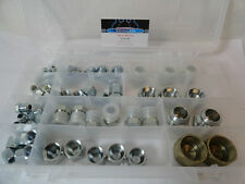 Hydraulic JIC Cap and Plug Adapter Kit Set 66-pcs steel JIC An fittings 6 sizes