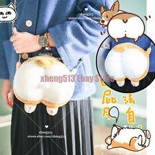 Super Cute Girl Shiba Inu Corgi Dog Soft Plush Bag Crossbody Bag Lolita Coin Bag