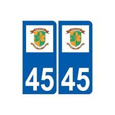 45 Saint-Denis-en-Val logo  ville autocollant plaque stickers droits