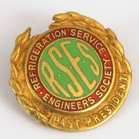 10K YELLOW GOLD REFRIGERATION SERVICE ENGINEERS SOCIETY RSES PRESIDENT PIN RARE