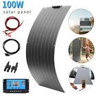 100W 18V Flexible Solar Panel Kit For Car Battery/Boat/Camping/RV/Power station