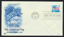 #2278 25c Flag and Clouds, Art Craft FDC **ANY 4=FREE SHIPPING**