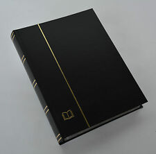 GOLDHAHN-Luxus-60 schwarze S. A4 Briefmarkenalbum Einsteckbuch schwarzer Einband