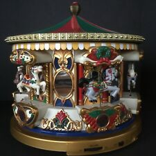 Mr Christmas Animated Carousel Holiday Merry Go Round Musical Mechanical 21 Song