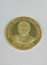 1 onza Medalla de oro con 999 Oro dorado Presidente Nelson Mandela Sudáfrica