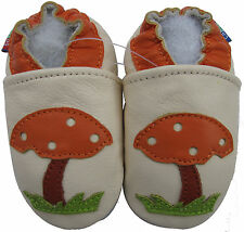 carozoo  mushroom cream 3-4y soft sole leather toddler shoes