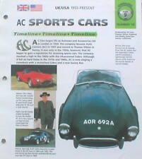 AC Sports Car Timeline History Brochure:ACE, 427 COBRA,289,GREYHOUND,DAYTONA,