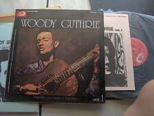 LP WOODY GUTHRIE VOL.1 ALBATROS N/MINT + BOOKLET ENGLISH & ITALIAN TEXTS