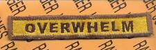 """809th Armored """"OVERWHELM"""" TANK DESTROYER TAB patch"""