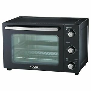 Cooks Professional Electric Mini Oven 34L Table Top Cooker Baking Grill 1500W