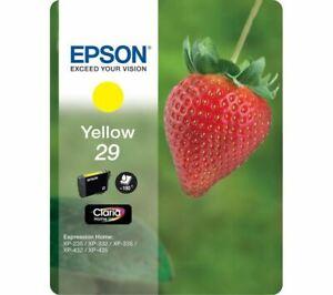 Genuine Epson 29 Yellow Ink Cartridge (T2984) C13T29844010 Strawberry