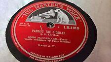 JOHN MCCORMACK PATRICK THE FIDDILER & I SAW FROM THE  BEACH HMV IR1010