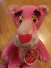 Vintage 1980 12 Inch Pink Panther Plush Doll Stuffed Animal