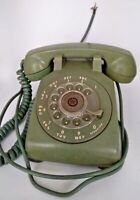 Vintage Western Electric Bell System Model 500 Avocado Green Rotary Desk Phone