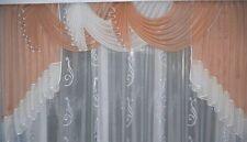 Deko-Gardine, Vorhang , Querbehang, lacks/weiss, 1,80 m breit
