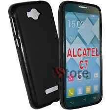 Cover For Alcatel C7 One Touch Pop 7040D Gel Black + Film